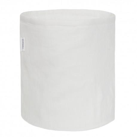 Lniany mały koszyk white