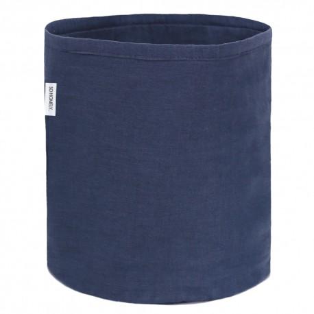 Lniany mały koszyk nay blue