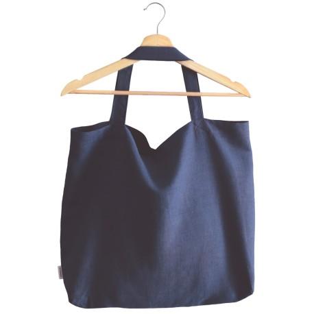 Lniana torba na zakupy white