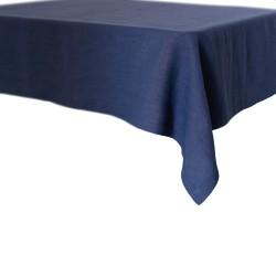Lniany obrus navy blue
