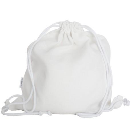 Lniany plecak worek white