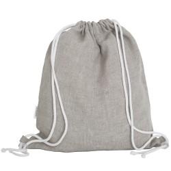 Lniany plecak worek beige