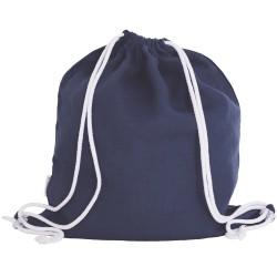 Lniany plecak worek blue